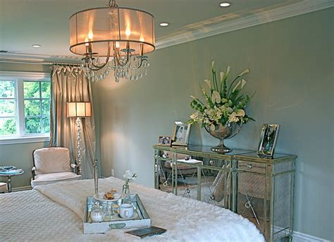 glamorous bedroom furniture   shabby chic style  mirrored furniture accent