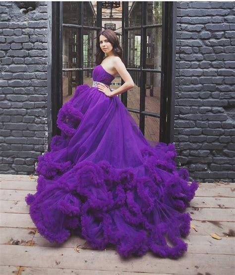 blue and purple wedding dress 2016 luxury designer purple wedding dress white