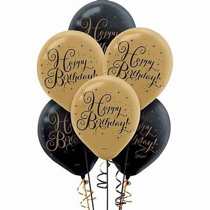 Balloons Birthday Gold Happy Party 60th 50th