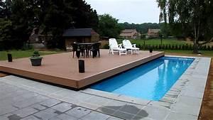 piscine terrasse youtube With piscine sur terrasse bois