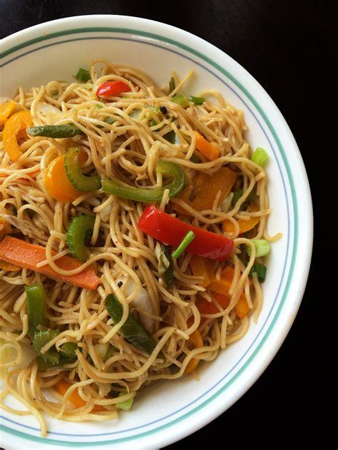 hakka cuisine recipes veg hakka noodles indo