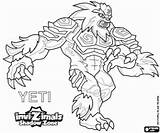 Yeti Invizimals Shadow Zone Coloring Pages Yetis Printable Max Peaks Himalayas Highest Powerful Hidden Oncoloring sketch template
