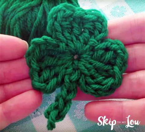crochet shamrock pattern   video skip