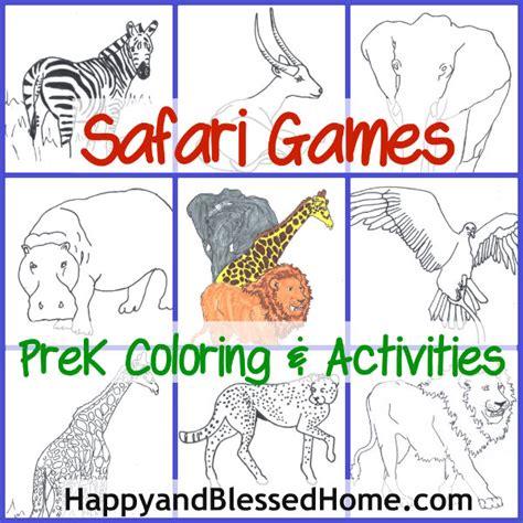 free preschool game free preschool safari happy and blessed home 486