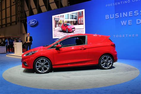 ford launches   fiesta van  cv show  parkers