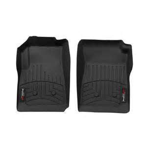 weathertech 447511 colorado canyon front floorliners crew