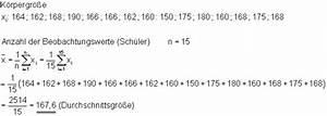 Standardabweichung Berechnen Formel : mittelwert median und modalwert ~ Themetempest.com Abrechnung