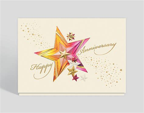 Sparkling Stars Anniversary Card 300321 Business