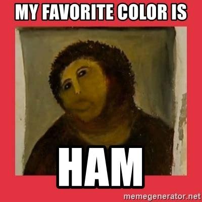 Fresco Jesus Meme - my favorite color is ham botched jesus fresco restoration meme generator