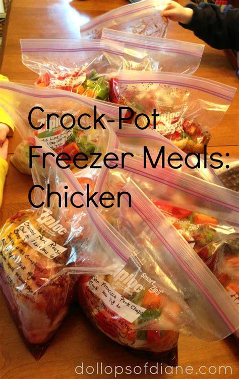 crockpot meals with chicken dollops of diane crock pot freezer recipes chicken