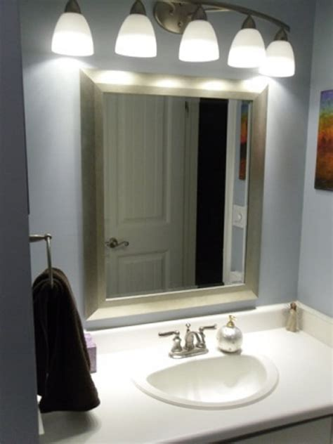 Bathroom Light Fixtures Above Mirror by Bathroom Lighting Large Mirror Light Fixtures Above