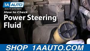 Auto Repair  How To Check  Add Power Steering Fluid To My