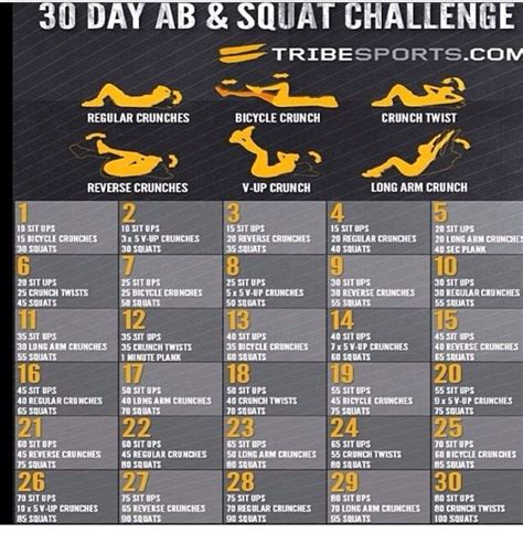 30-Day Workout Challenge Routine