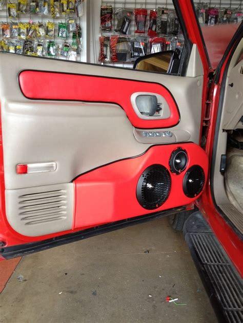 custom chevy door panels speaker boxes consoles door