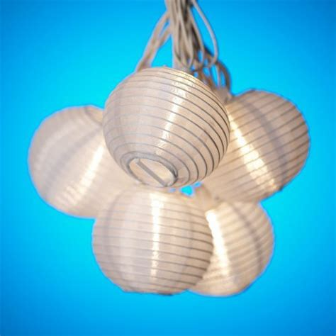 white paper lantern string lights