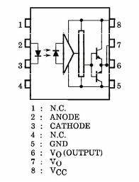 problem with driving mosfet using tlp250 With pin diagram of uc