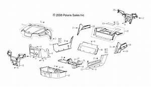 Polaris Bumper Front Black 0454801