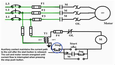 circuit jog motor start stop and jog