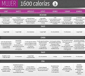 Dieta de 1600 calorías para mujer Gym Pinterest