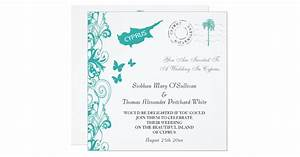 cyprus wedding invitation in white and aqua zazzle With wedding invitations for cyprus