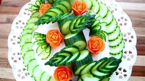 art  cucumber carrot flower skill vegetable carving