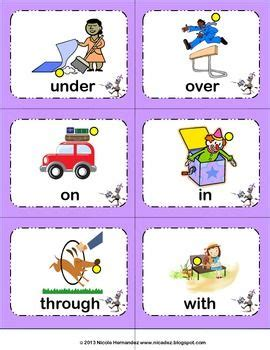 preposition illustrated word cards with sorting mats 422 | 1dfba24b386bdb53dc500cb139eee47d