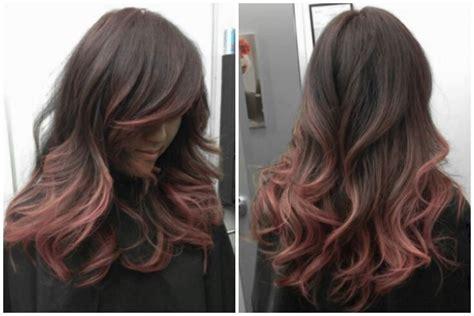 Black To Rose Gold Hair