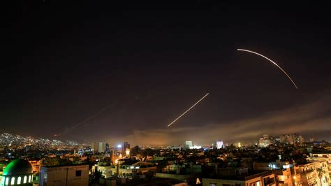 Damascus Rocked By Loud Explosions As Us, Uk And France Announce Syria Air Strikes  Itv News
