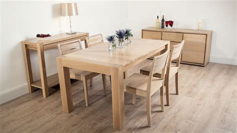 modern washed oak extending dining set oak