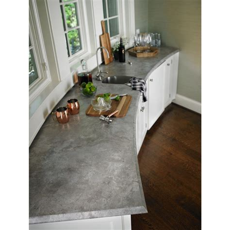lowes countertop concrete shop formica brand laminate 60 in x 144 in weathered