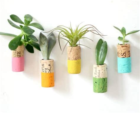 Cork Planters Kreative Bastelideen by Wine Cork Succulent Magnets Bright And Cheery Pops Of