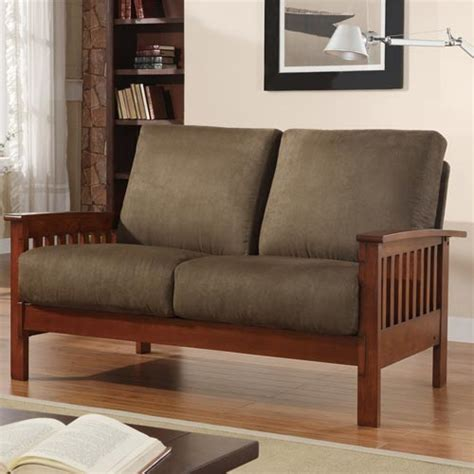 Mission Loveseat Recliner by Homehills Mission Loveseat With Olive Microfiber 229912