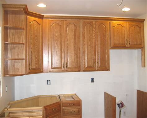 how to install upper cabinets how to install crown moulding on upper cabinets