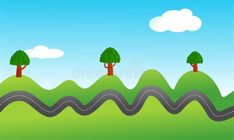 Bumpy Road Stock Vector. Illustration Of Outside, Graphic