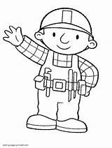 Builder Bob Coloring Printable Cartoon Characters Boys Ads Google sketch template