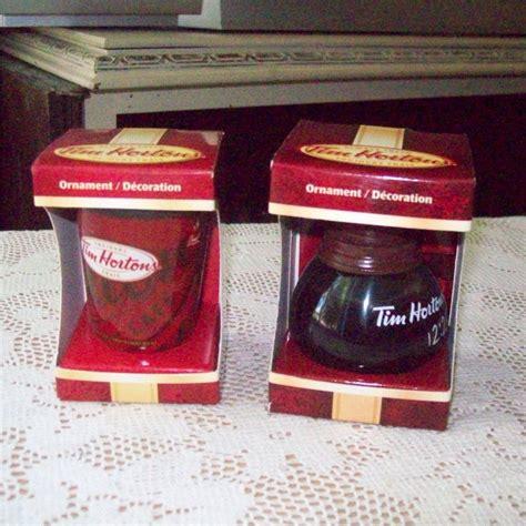 tim hortons coffee pot and mug cup 2010 christmas ornaments