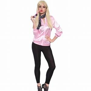 Retro 1950s Grease Pink Ladies Lady Jacket Costume Hen ...
