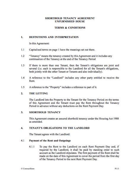 Letting Agreement Template Free by Free Shorthold Tenancy Agreement Template Free Tenancy