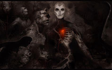 Dark Horror Gothic Mask Skull Skeleton Heart Wallpaper