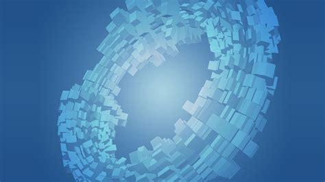 blue, Blocks, Rings, Cubes Wallpapers HD / Desktop and ...
