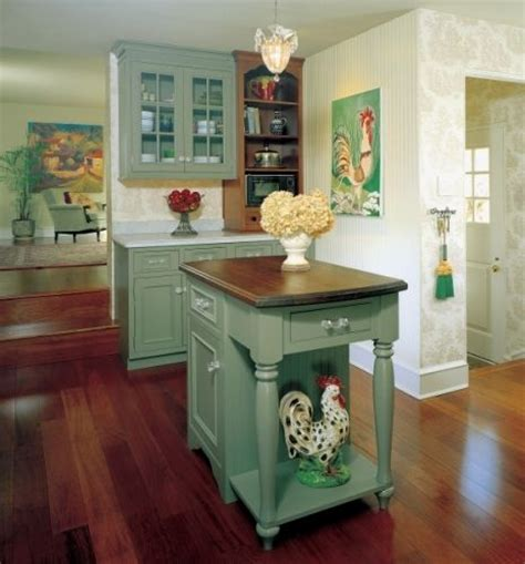 Vintage Green English Country Kitchen  Kitchen Design