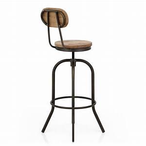 Tabouret De Bar Retro : chaise de bar bois vintage swivel monde du tabouret ~ Teatrodelosmanantiales.com Idées de Décoration