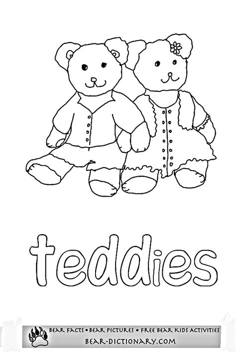 Printable Bear Worksheets 1,Toby's Fave Teddy Bear