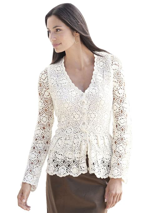 plus size cardigan sweaters plus size crochet peplum cardigan image crochet clothing