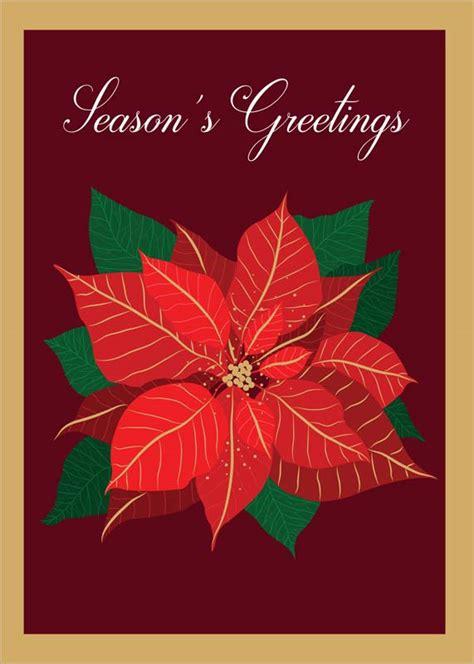 tracks publishing  poinsettia christmas card xnq