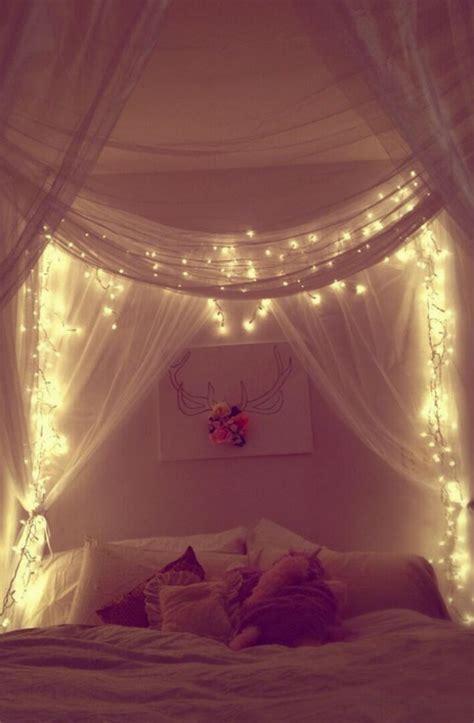 Lichterkette Im Zimmer by Interiordesign Lichterkette Himmelbett Betten
