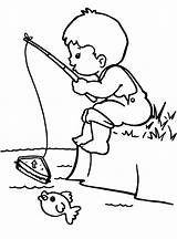 Fishing Coloring Colouring Boy Pages Drawing Rod Boys Sketch Printable Kid Bobber Bestcoloringpagesforkids Fly Easy Adult Camping Getdrawings Littlemix Books sketch template
