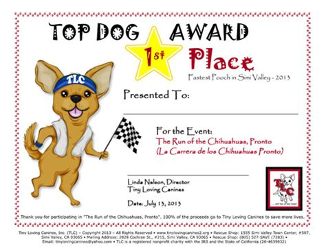 tlc dog rescue award