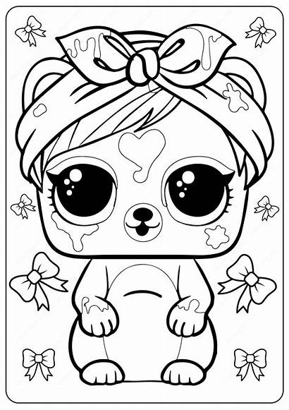 Lol Coloring Surprise Printable Omg Colouring Painting