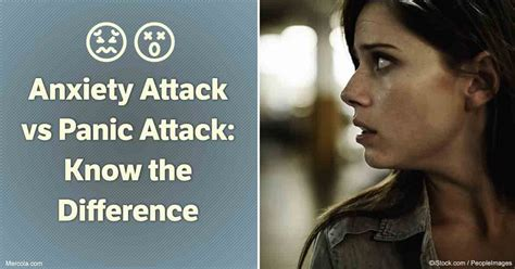 anxiety attack  panic attack   difference